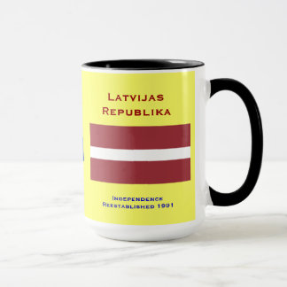 Latvia (Europe) Mug