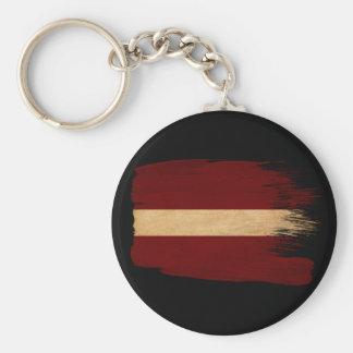 Latvia Flag Basic Round Button Keychain