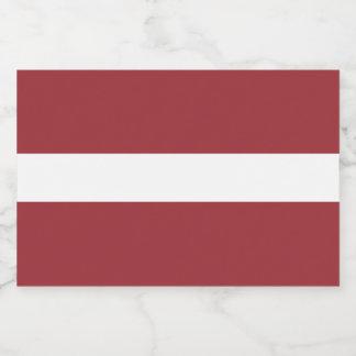 Latvia Flag Food Label