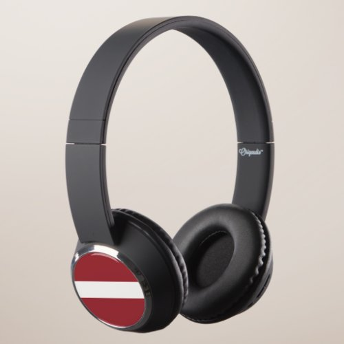 Latvia Flag Headphones