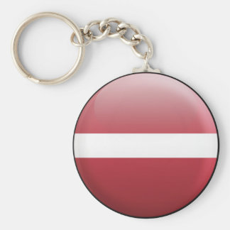 Latvia Flag Key Chain