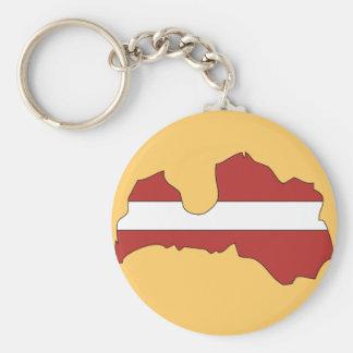 Latvia flag map key chains