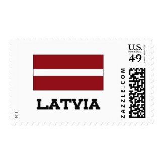 Latvia Flag Postage