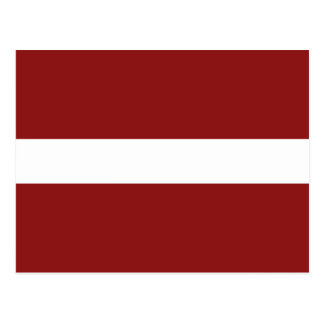 Latvia Flag Postcard