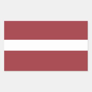 Latvia Flag Stickers* Rectangular Sticker