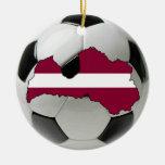 Latvia football soccer ornament