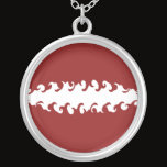 Latvia Gnarly Flag Silver Plated Necklace