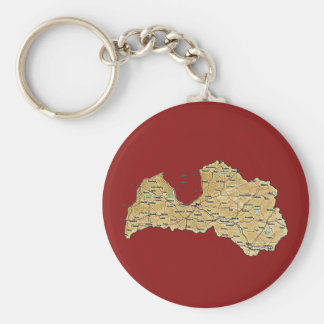 Latvia Map Keychain