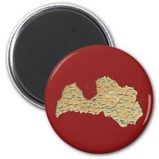 Latvia Map Magnet