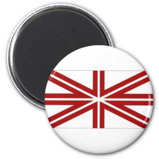 Latvia Naval Jack 2 Inch Round Magnet
