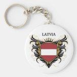 Latvia [personalize] keychain