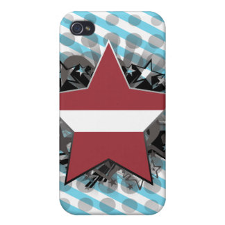 Latvia Star iPhone 4 Cases