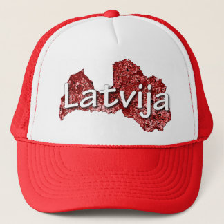 Latvia Trucker Hat
