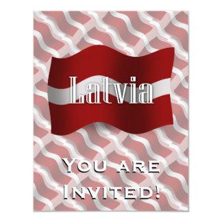 Latvia Waving Flag Card