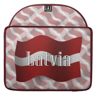 Latvia Waving Flag Sleeve For MacBook Pro