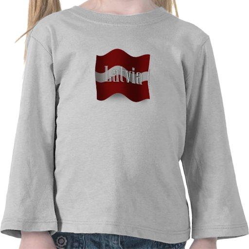 Latvia Waving Flag Shirt