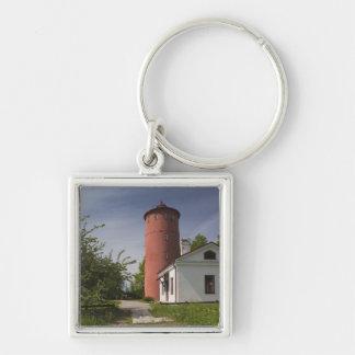 Latvia, Western Latvia, Kurzeme Region, Cape 2 Silver-Colored Square Keychain