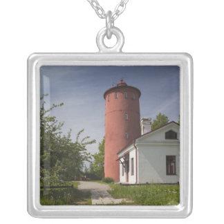 Latvia, Western Latvia, Kurzeme Region, Cape 2 Square Pendant Necklace