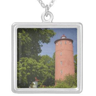 Latvia, Western Latvia, Kurzeme Region, Cape Square Pendant Necklace