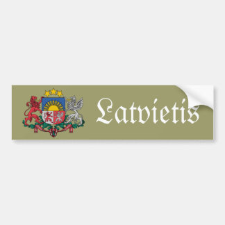 Latvian bumper sticker with coat of arms