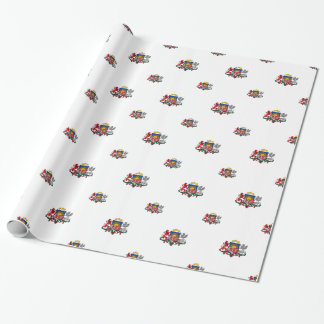 Latvian coat of arms gift wrap