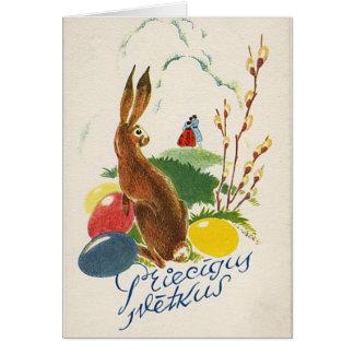 Latvian Easter card