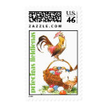 Latvian Easter stamp with rooster