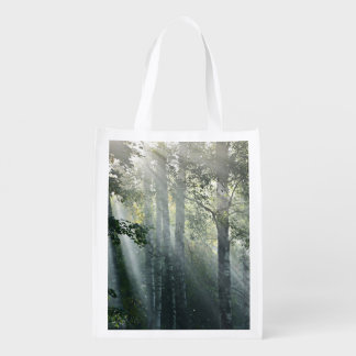 Latvian Foggy Forest Reusable Grocery Bags