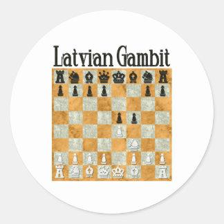 Latvian Gambit Classic Round Sticker