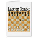 Latvian Gambit Greeting Card