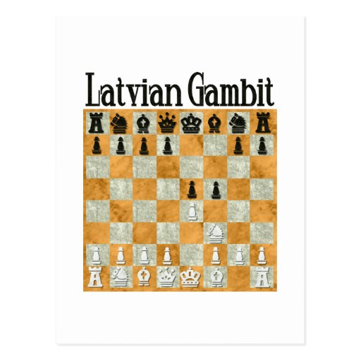 Latvian Gambit Postcard