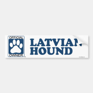 Latvian Hound Blue Bumper Sticker
