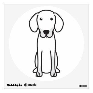 Latvian Hound Dog Cartoon Wall Sticker