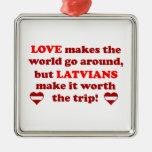 Latvian Love Christmas Ornament