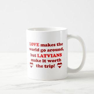 Latvian Love Classic White Coffee Mug