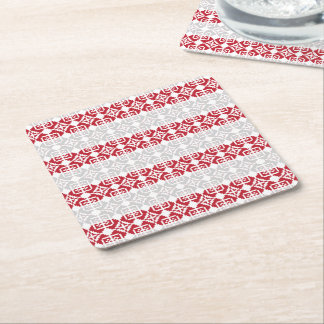Latvian Morning Sun II Square Paper Coaster