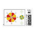 Latvian postage with sun design