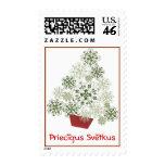 Latvian Saulites Christmas Tree Stamp