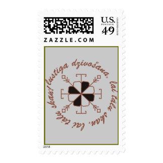 Latvian saulites pastmarka postage