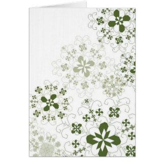 Latvian snowflakes card