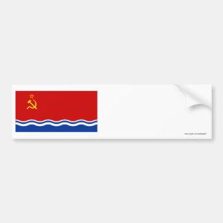 Latvian SSR Flag Bumper Stickers
