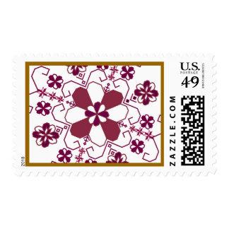 Latvian sun design postage stamp