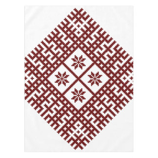 Latvian symbol motif design Auseklis Tablecloth