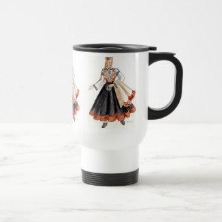 Latvian Tautu Meita uz Kruzes Travel Mug