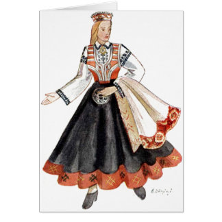 Latvian traditional costume cards