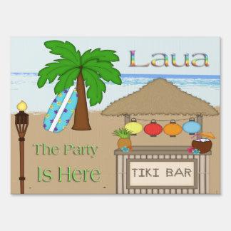 Laua/muestra de la yarda del fiesta de Tiki