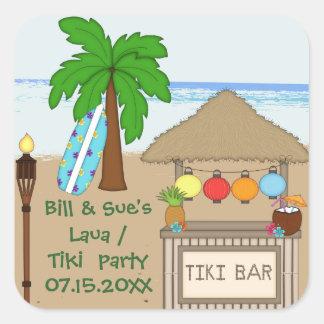 Laua / Tiki  party  Favor stickers