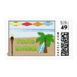 Laua / Tiki Party Invitation postage stamp