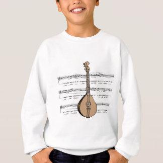 laúd y partitura de la mandolina camisas