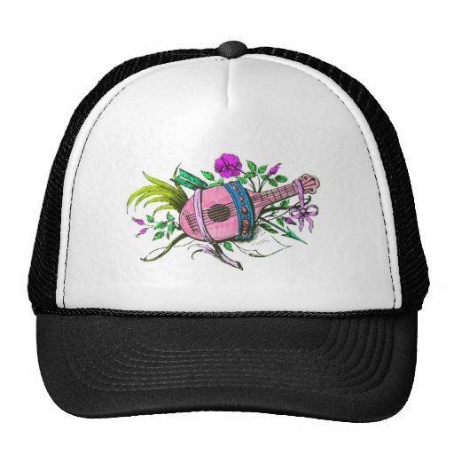 Laúd y plantas del rosa del Victorian del vintage Gorra